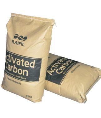 Загрузка активированный уголь Raifil 25 кг.