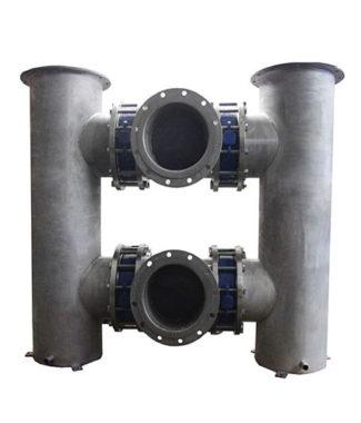 Двойной фильтр механической очистки воды Аруан 500 (100-5000 м3/час, ДУ 300 - ДУ 600)