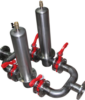 Двойной фильтр механической очистки воды Аруан 300 (20-800 м3/час, ДУ 50 - ДУ 300)